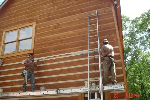 Log Home Chinking Can Applied Different Ways Depending Look
