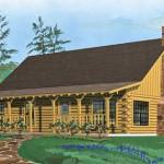 Log Home Elevation Second Floor Plan First