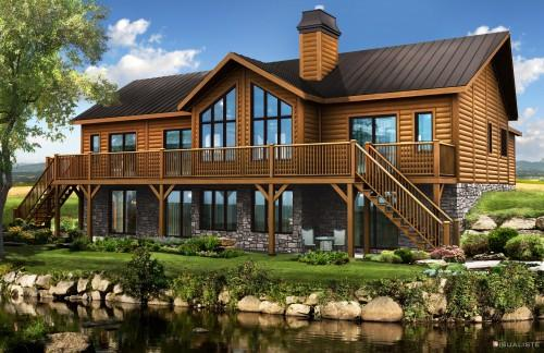 Log Home Floor Plans Homes Timber Block Fabulous Featured