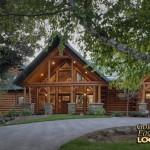 Log Home Golden Eagle Homes Front Driveway
