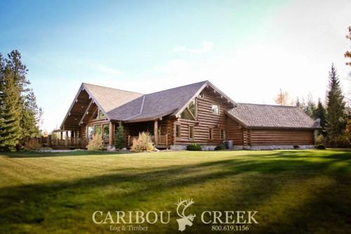 Log Home Handcrafted Chink Style Caribou Creek