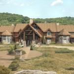 Log Home Luxury Hybrid Timber Frame