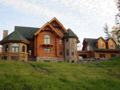Log Home Made Engellman Spruce Frontier Homes Out