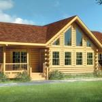 Log Home Plan Original Lincoln Logs Woodside