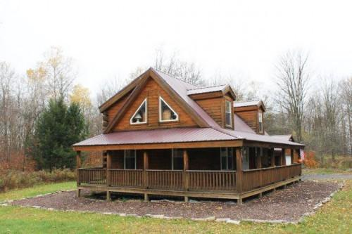 Log Home Sale Camden New York Magnificent Setting