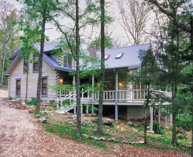 Log Home Stain Gray