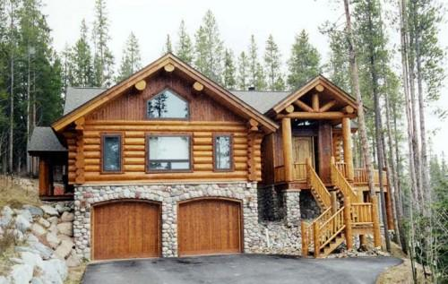 Log Home Stone Work Maybe One Day Vacation House