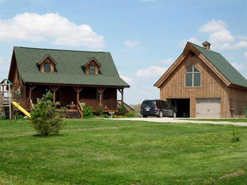 Log Home Sundown Lake Ultimate Man Room