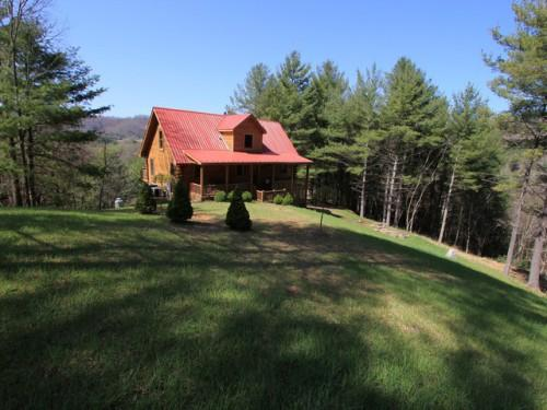 Log Home Trout Stream Sale Blue Ridge Mountains Close New