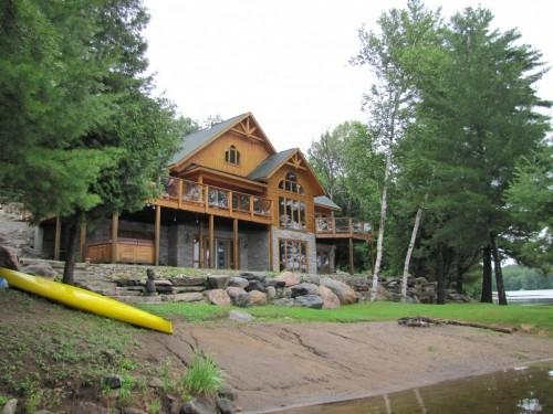 Log Home Waterfront Meehan Featured Homes Thumbnails