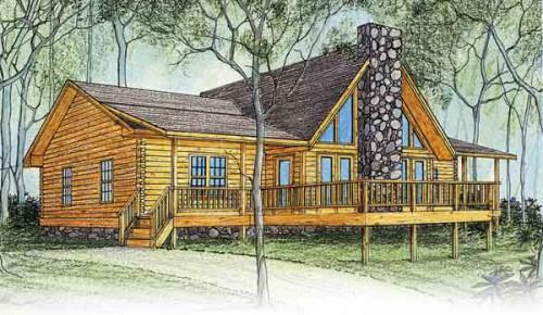 Log Homes America Inc Peacock Home Plan