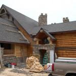 Log Homes Architect Designs Large Home