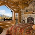 Log Homes Cabin Bedrooms