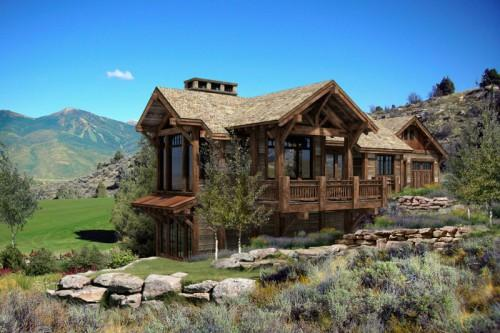 Log Homes Cabins Kitchen Project