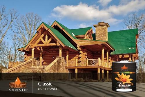 Log Homes Exterior Finishes
