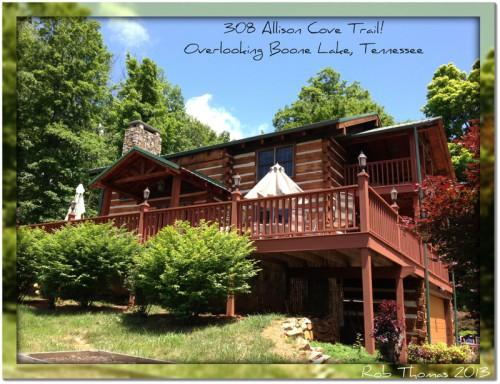 Log Homes Sale Under Overlooking Boone Lake