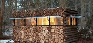 Log Studio Prefab Housing Cabin Portable Building Sustainable