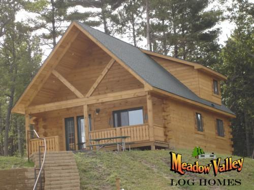 Log Truss Front Porch Adds Charm Home Dormer