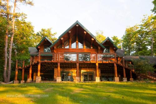 Luxury Log Home Otsego Lake