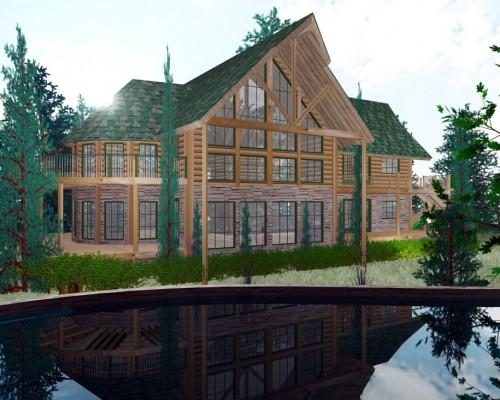 Luxury Log Home Plans Grandmother Friend House