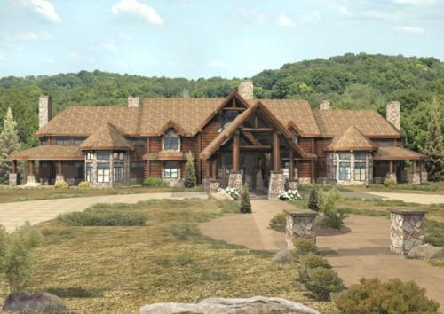 Luxury Log Homes Floor Plans