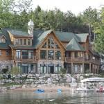 Luxury Michigan Lake Log Homes Sale Google Search