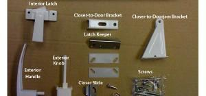 Manufactured Home White Storm Closer Handles