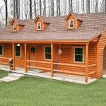 Manufactured Homes Look Like Log Cabins