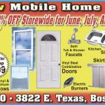 Mcgrew Mobile Home Supply Summer Sale Off Storewide June