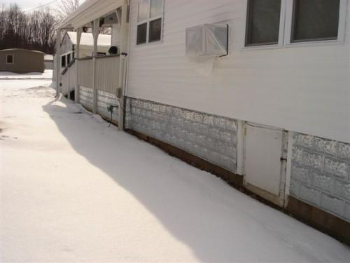 Metal Mobile Home Skirting Application Carrollton