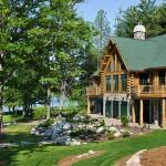 Michigan Log Home Exterior