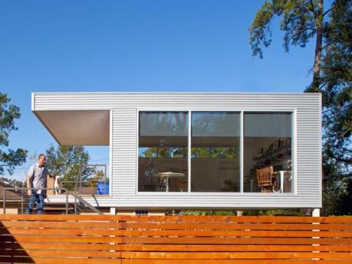 Mid Century Modern Prefab Addition