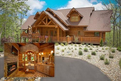 Million Dollar Log Cabin Gatlinburg Tennessee Most
