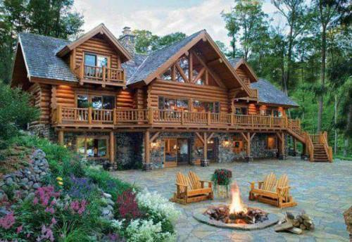 Million Dollar Log Cabins American