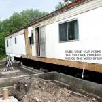 Mobile Home Addition Foundation Poured