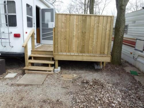 Mobile Home Deck Rear