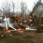 Mobile Home Demolition Recycling Waste