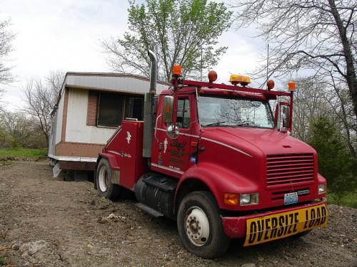 Mobile Home Moving Truck