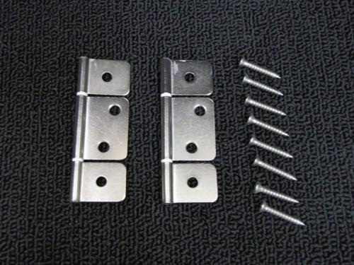 Mobile Home Parts Interior Door Hinges Pack Non Mortise Brushed