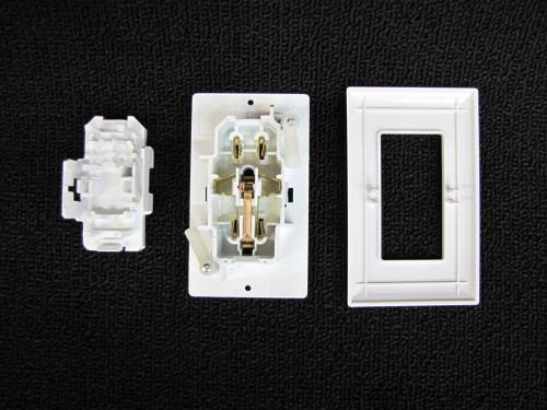 Mobile Home Parts Self Contained Outlet Includes Cover Plate White