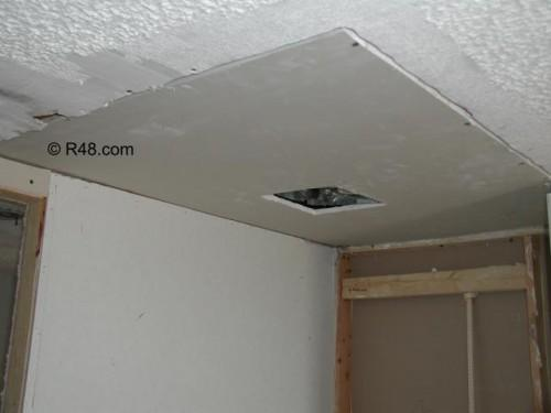Mobile Home Renovation Ceiling
