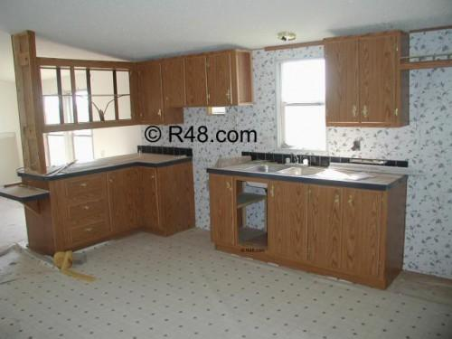 Mobile Home Renovation Kitchen