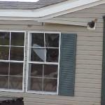 Mobile Home Sustained Broken Windows Wind Debris