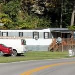 Mobile Homes Liegen Oft Sehr Nahe Der Strasse West Virginia Usa