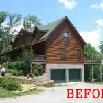 Modern Log Home Addition Ryan Thewes Architect Nashville Tennessee