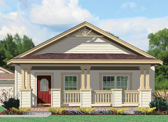 Modest Craftsman Modular Homes Architecture Bungalow Elevation