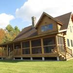 Modified Coopersburg Model Ward Cedar Log Homes Homeowner