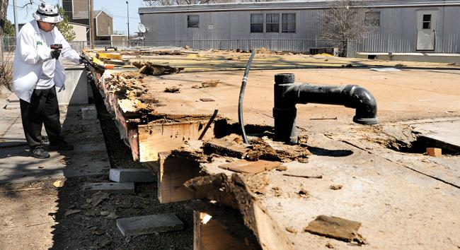 Morales Works Chipping Away Flooring Level Mobile Home