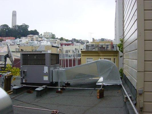 New Package Air Conditioning Unit Roof North Beach San