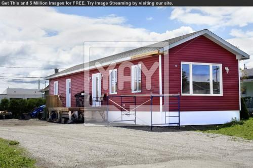 New Red Mobile Home